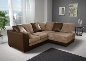 - BEST BUY AT LOW BUDGET- BRAND NEW BYRON JUMBO CORD CORNER OR 3+2 SEATER SOFA -SAME DAY IN LONDON-