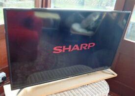 Sharp 40 LED TV ( NO REMOTE )