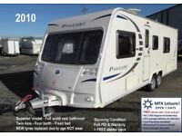2010 BAILEY PAGEANT LIMOUSIN (*Wyoming) 4 Berth – TWIN AXLE – FIXED BED - NEW TYRES - SUPERIOR SPEC'
