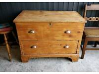 Antique mule chest