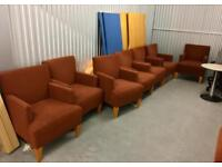LARGE MATCHING SET OF DESIGNER LOUNGE/OFFICE ARMCHAIRS BY HBF - RRP - £1650 EACH - MAKE ME AN OFFER!