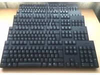 Job Lot of 10 x Dell USB Standard Keyboard UK Layout