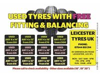 """Top Quality Part Worn & New Tyres - All Sizes Available (from 13"""" to 20"""") (4mm to 8mm)"""