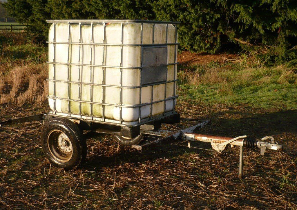 Water Tank Trailer Water Bowser Ibc Container Ideal For