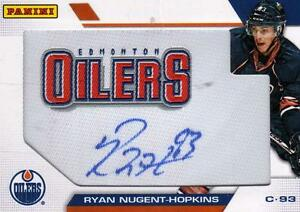 Ryan Nugent-Hopkins Oilers Patch Auto