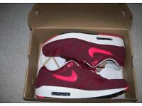 Nike Air Max 1 Atomic Red Black Sail Trainers