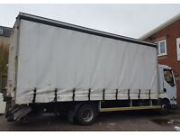 7.5 Ton truck curtain side with tail lift