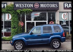 2003 Jeep Liberty LIMITED*4X4*LEATHER*SUNROOF*SPORTS PKG*CERT&ET
