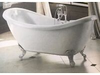 Marlow traditional double ended slipper bath.