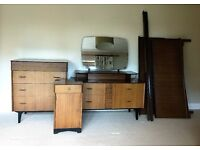 Vintage Retro Mid Century Matching 4 Piece Bedroom Set Made by Advance