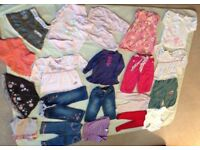 Baby Girls Bundle of quality Clothing fit Girl age 6-12 months inc Next, M&S, Ladybird, 19 Items