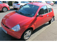 Ford KA Collection 1.3L 2002 Red Hatchback Car. Milage 94,192. Manual. Perfect First Car / City Car
