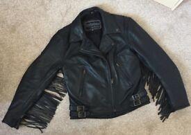 Ladies size 8/10 Leather Fridge Bikers Jacket