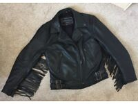 Ladies size 8/10 Leather Fridge Bikers Jacket