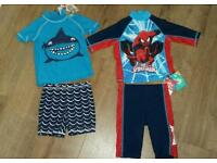 Boys 1.5-2 years, next and tu sunsafe swimsuits new with tags