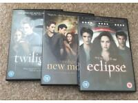 Twilight DVDs 1, 2 and 3