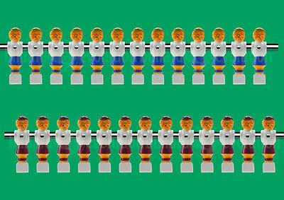 "26 Red/Blue Old Style Foosball Men-5/8"" Rod-13 Red/13 Blue Tournament Soccer Men"