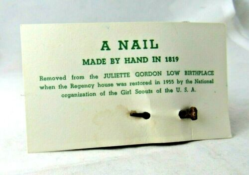 1819 BIRTHPLACE SQUARE NAIL, Authenticated Girl Scout HISTORIANS CHRISTMAS GIFT