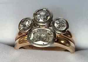 2 stunning diamond/9ct  gold rings. Davistown Gosford Area Preview