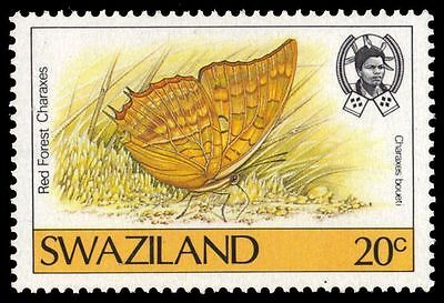 "SWAZILAND 508 (SG518) - Butterflies ""Red Forest Charaxes"" (pf28820)"