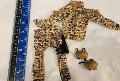 "Tactical Combat Uniform Set Camo Army Military Knee Pads 1/6 scale 12"" figure"
