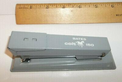 Vintage Bates Colt 150 Stapler Grey Office Desk Collector Working