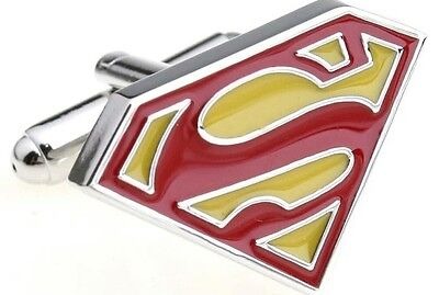 SALE Silver Classic Superman Cufflinks Formal Wedding Business for Suit Shirt](Superman Suits For Sale)