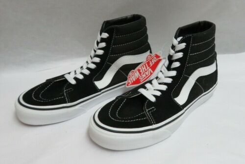 Vans Sk8-Hi Lace Up Shoe Black Suede/Canvas Men