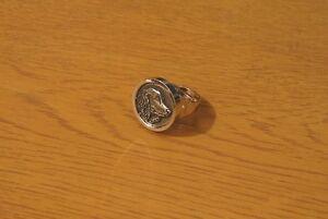 Springer Spaniel Dog Statement Ring Rhodium-Plated Gift Friend Mum Dad Gift