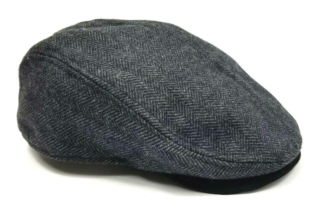 Stetson Wool Blend Charcoal Paperboy Cap Men's XL Newsboy Ha
