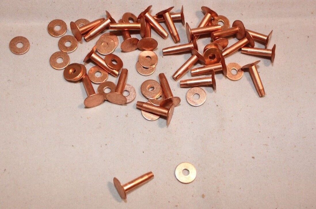 rhetoric and copper rivets Metal (steel, aluminum, brass, and copper) stampings to accent your designs.