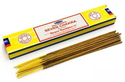 Satya Nag Champa 'Seven Chakra' Incense Sticks (O9)