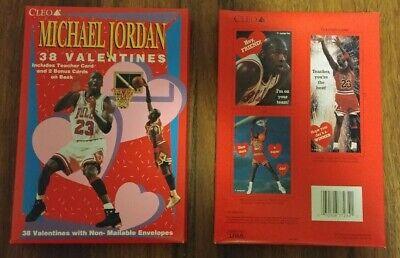 Basketball Valentine's Box (1990's CLEO Michael Jordan 38 Valentines Day Cards 2 Unopened)