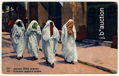 LEHNERT LANDROCK 532 VEILED ARAB GIRLS ARABERINNEN VINTAGE 1910S ETHNIC PC