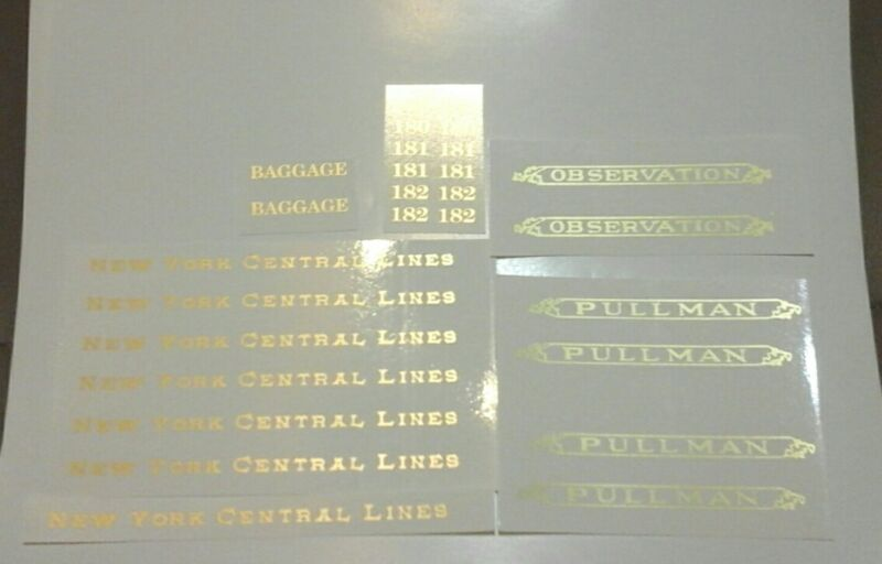 LIONEL PRE-WAR STANDARD SCALE  180-181-182 GOLD METALLIC WATER DECAL SERIF LOOK!