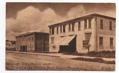 1914 Postcard Orange City Hotel & Citrus Fair Building Cloverdale CA