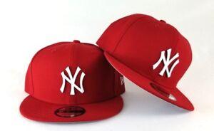 01963d965543f New Era Red New York Yankees White Metal Badge Logo 9Fifty Snapback Hat