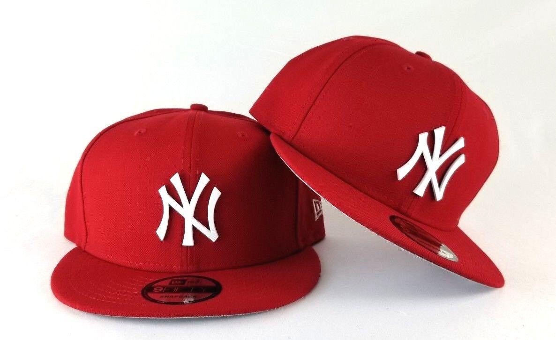 efcf932e New Era Red New York Yankees White Metal Badge Logo 9Fifty Snapback Hat