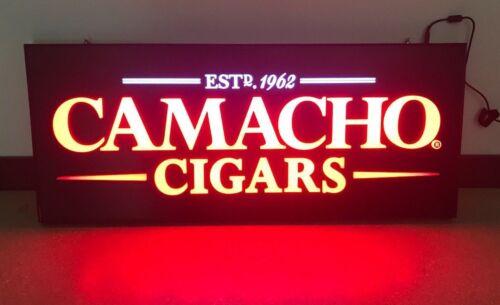 VINTAGE CAMACHO CIGARS GLOWING LED SIGN
