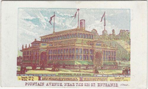 Franklin Flint Glass Works Philadelphia Centennial Exhibition Trade Card