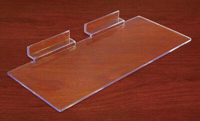 Plexiglass Molded Slatwall Shelf Retail Merchandise Store Fixture Lot of 50 NEW