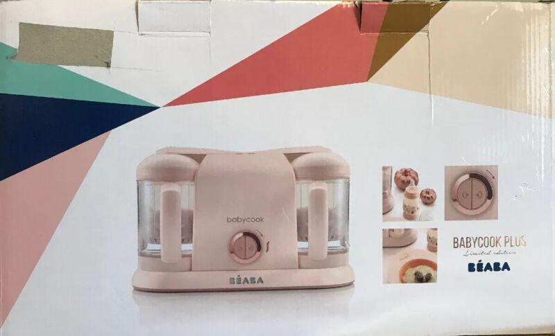 BEABA Babycook Plus Baby Food Maker, 4 in ,  Rose Gold - New