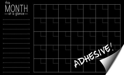 Large Chalkboard (Extra Large Chalkboard Monthly Wall Calendar - Adhesive Decal, Reusable,... )