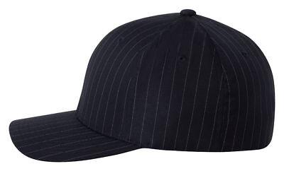 Flex Fit Pinstripe Hat - Flexfit Pinstripe Fitted Baseball Blank Plain Hat Ballcap Cap Flex Fit. 6195P