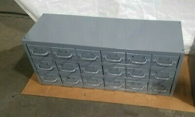 Industrial Metal 18 Drawer Tabletop Storage Cabinet For Bolts Screws Tools Etc.