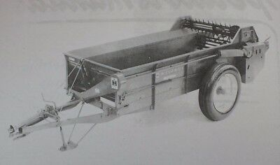 Ih Farmall Mccormick No 125 Power Drive Manure Spreader Set Up Owners Manual
