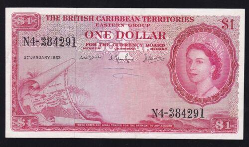 THE BRITISH CARIBBEAN TERRITORIES ---- 1  DOLLAR  1963 ---- VF -----