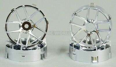 Tetsujin JASMINE  RC Car 1/10 Wheels CHROME Adjustable Offset 3-6-9mm -4 RIMS