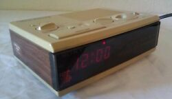 Sony Dream Machine Fm/Am Digital Alarm Clock Radio Tan Vintage Retro ICF-C3W