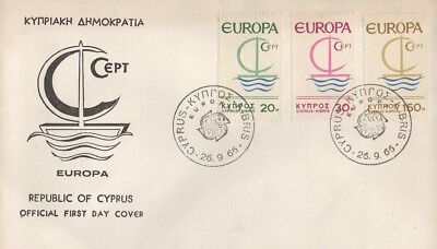 REPUBLIC OF CYPRUS 1966 EUROPA CEPT FIRST DAY COVER FDC
